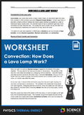 Worksheet - How Does a Lava Lamp Work? (Heat Transfer and