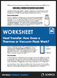 Worksheet - How Does a Thermos or Vacuum Flask Work (Heat