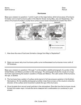 Worksheet - Hurricanes *Editable*