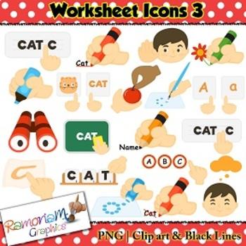 Worksheet Icons Clip art