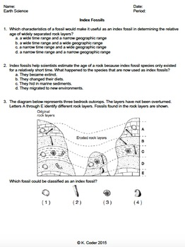 Dating fossils worksheet answers