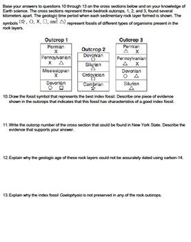 Worksheet - Index Fossils *EDITABLE*