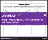 Worksheet - Interpreting Graphs and False Correlations (2 Worksheet Set)