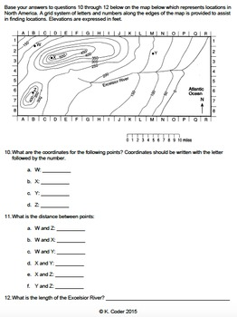 Worksheet - Introduction to Maps *Editable*