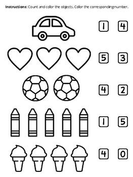 Worksheet - Kinder 1