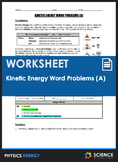Worksheet - Kinetic Energy (KE) Word Problems (Part 1)