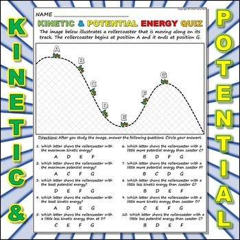 Kinetic Vs Potential Energy Teaching Resources Teachers Pay Teachers