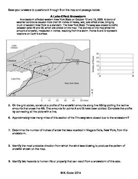 Worksheet - Lake Effect Snow *Editable*