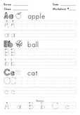 "Worksheet - Learn and practice writing ""a"" ""b"" and ""c"""