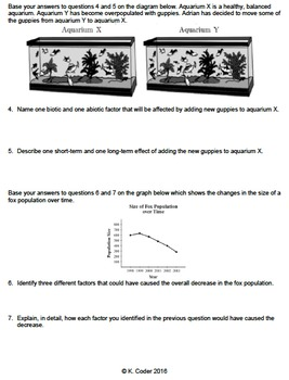 Worksheet - Limiting Factors & Carrying Capacity CR *EDITABLE*