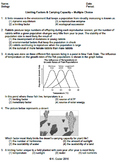 Worksheet - Limiting Factors & Carrying Capacity MC *EDITABLE*
