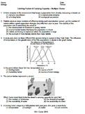 Worksheet - Limiting Factors & Carrying Capacity MC *EDITABLE*