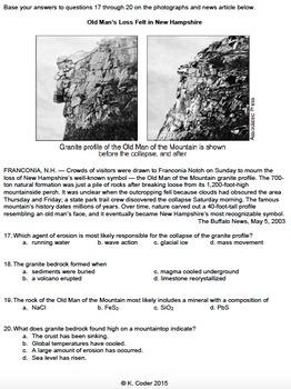Worksheet - Mass Movement *Editable*
