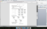 Worksheet Matching Equations and Tables