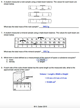 Worksheet - Measuring (Editable)