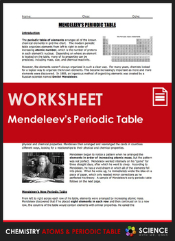 Worksheet mendeleevs periodic table of elements by science with worksheet mendeleevs periodic table of elements urtaz Image collections