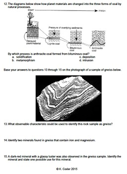 Worksheet - Metamorphic Rocks #1 *EDITABLE* (WITH ANSWERS EXPLAINED)