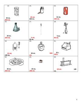 Worksheet Metrics Liters and Milliliters
