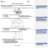 Worksheet - Minerals Physical Properties *EDITABLE* (WITH ANSWERS EXPLAINED)
