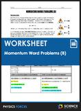 Worksheet - Momentum (P=MV) Word Problems (Part 2)