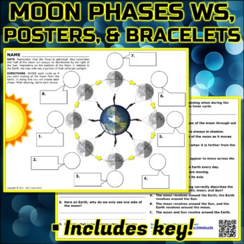 Worksheet: Moon Phases Practice by Travis Terry   TpT