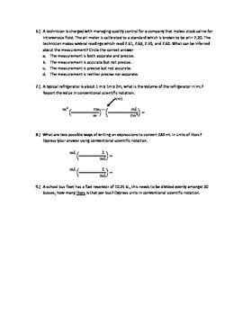 Naming Ionic Compounds, General Science Questions, Unit Conversions