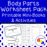 Worksheet Pack: Parts of the Body Vocabulary Printables fo