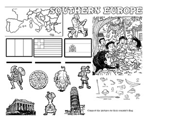 Worksheet Pack teaching countries from around the World