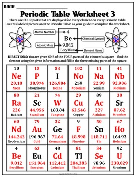 Worksheet periodic table worksheet 3 by travis terry tpt worksheet periodic table worksheet 3 urtaz Images