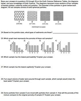 Worksheet - Permeability, Porosity, Capillarity *EDITABLE*