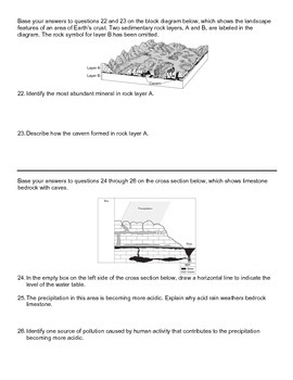 Worksheet - Physical and Chemical Weathering *Editable*