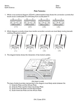 Worksheet - Plate Tectonics *Editable*