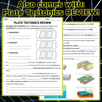 Worksheet: Plate Tectonics Study Guide and Practice by Travis Terry