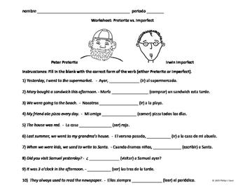 Worksheet: Preterite vs. Imperfect (harder)
