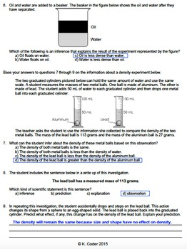 Worksheet - Prologue & Density *FREEBIE* (Editable)