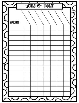 Worksheet Tracker