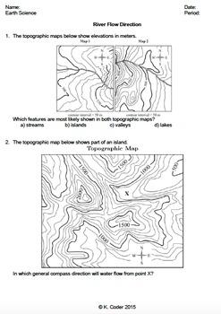 Worksheet - River Flow Direction *Editable*