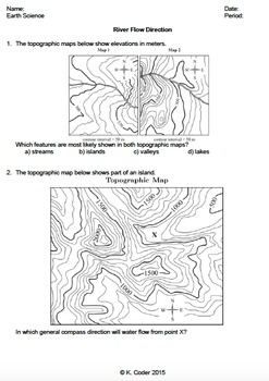 Worksheet - River Flow Direction *Editable*
