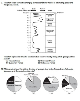 Worksheet - Scale of Geologic Time *EDITABLE*