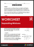 Worksheet - Separation Techniques for Separating Mixtures