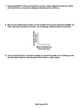 Worksheet - Planets in Our Solar System *Editable*