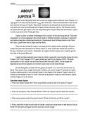 Worksheet: Solar System, About Jupiter