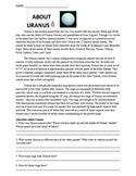 Worksheet: Solar System, About Uranus