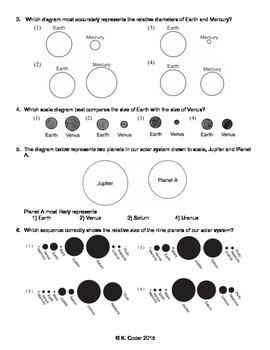 Worksheet - Solar System Scale *Editable*