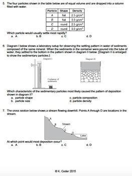 Worksheet - Sorting of Sediments *Editable*