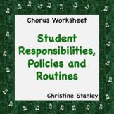 Classroom Management ♪ Student Responsibilities, Policies and Procedures