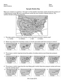 Worksheet - Synoptic Weather Map *Editable*