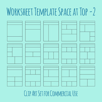 Worksheet Template / Layout - Extra Space at Top 01 Clip Art for Commercial Use