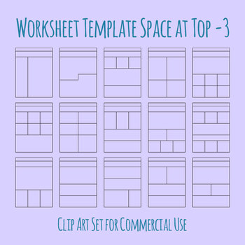Worksheet Template / Layout - Extra Space at Top 03 Clip Art for Commercial Use