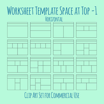 Worksheet Template / Layout - Horizontal Extra Space at Top 01 Clip Art